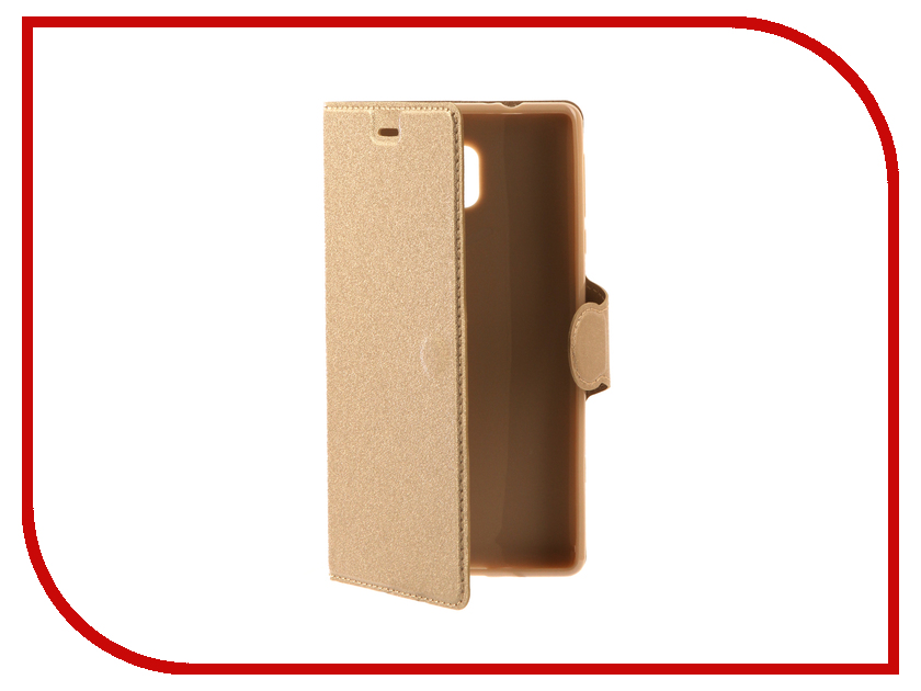 Аксессуар Чехол для Nokia 3 Red Line Book Type Gold УТ000011014