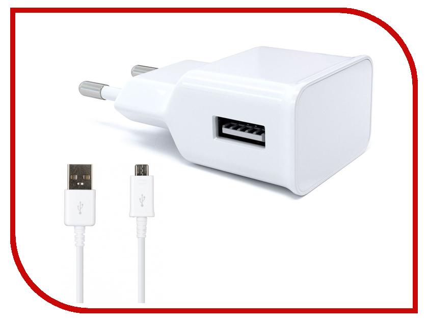 Зарядное устройство Red Line NT-1A 1xUSB 1A + кабель MicroUSB White зарядное устройство red line nt 2a 2xusb 2 1a кабель black