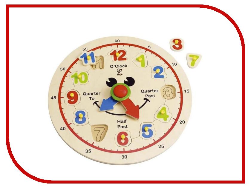 Игрушка Hape Счастливые часы Е1600 hape деревянная игрушка пазл счастливые часы