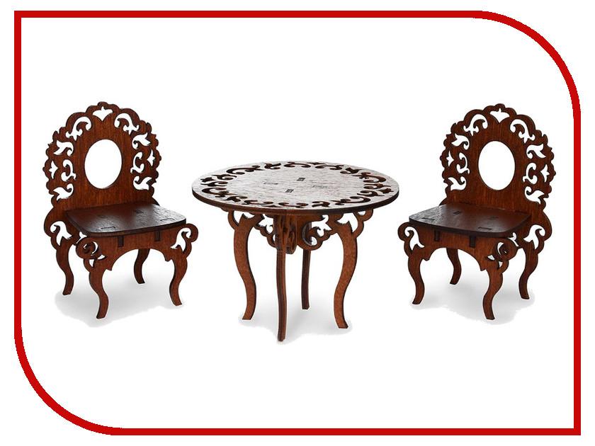 Игра ЯиГрушка Стол и стулья для кукольного домика Brown 59406 детские стулья для кормления