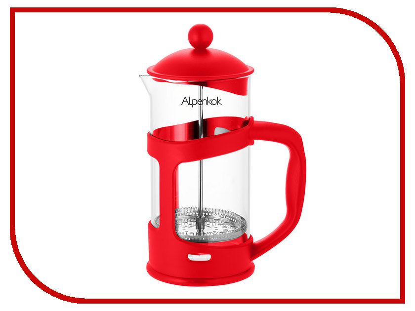 Френч-пресс Alpenkok АК-718/10 Red 1L термокружка alpenkok олени 400ml red ak 04022a