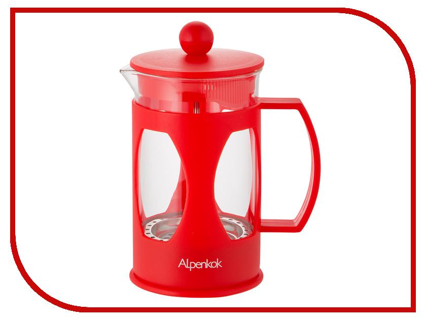 Френч-пресс Alpenkok АК-709/60 Red 600ml термокружка alpenkok олени 400ml red ak 04022a