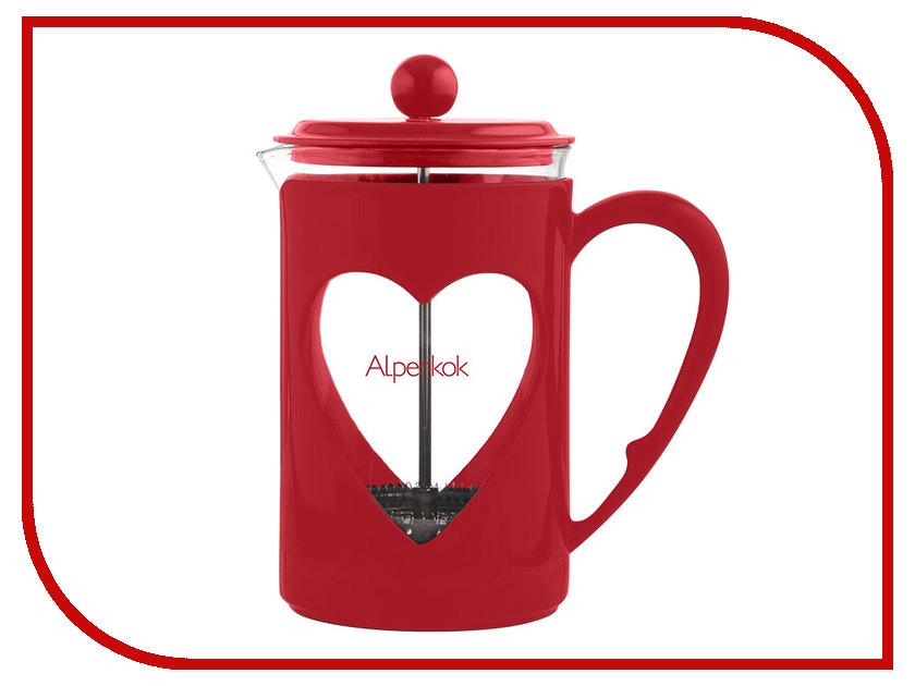 Френч-пресс Alpenkok АК-710/80 Red 800ml термокружка alpenkok олени 400ml red ak 04022a