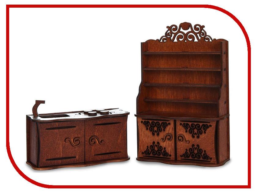 Игра ЯиГрушка Кухня для кукольного домика Brown 59414 платье ано ано mp002xw1a5re