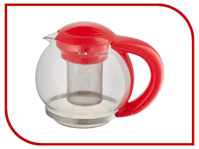 Чайник заварочный Webber BE-5573/1 Red 1.5L webber форма для выпечки webber be 4270n