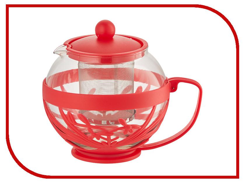 Чайник заварочный Webber BE-5572/1 Red 750ml webber форма для выпечки webber be 4270n