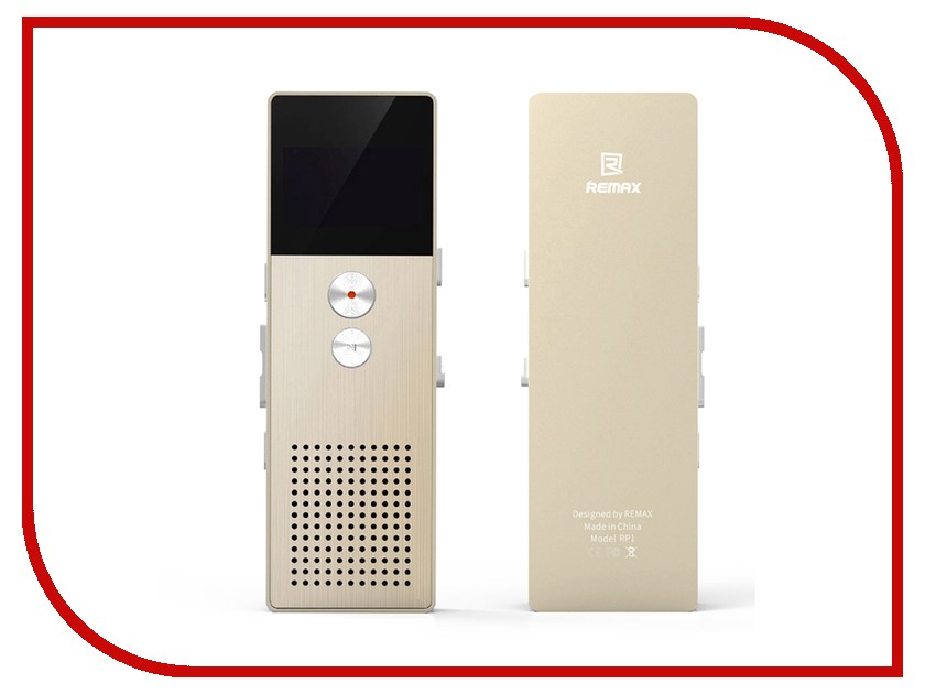 Диктофон Remax RP-1 Gold