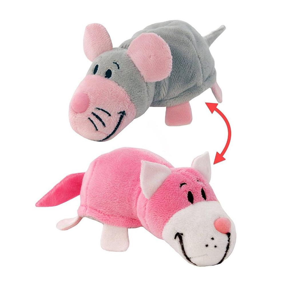 Игрушка 1Toy Вывернушка 2в1 Кот-Мышь Pink Т10928