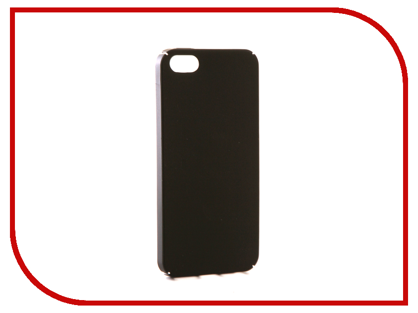 Аксессуар Чехол iBox Fresh для APPLE iPhone 5 / 5S / SE Black red line ibox crystal чехол для iphone 5 5s se clear