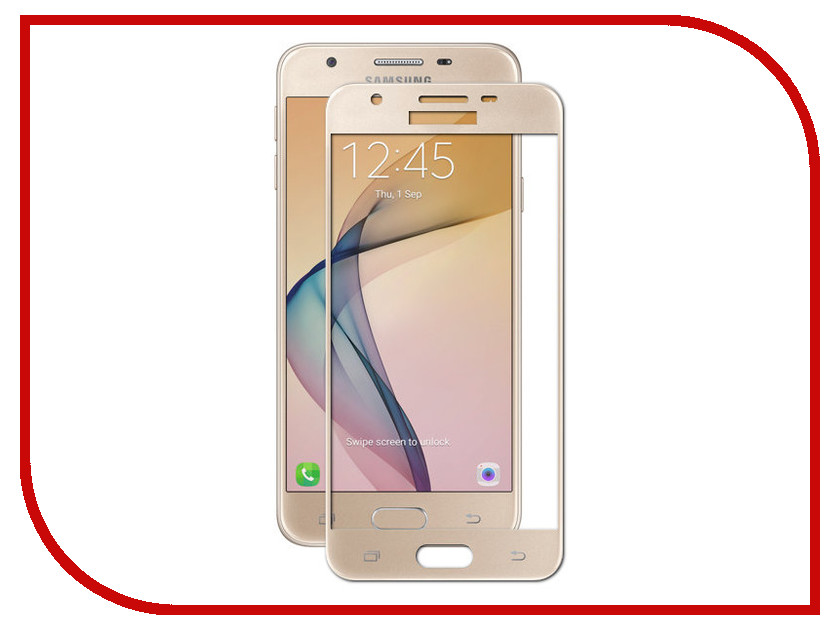 Аксессуар Защитное стекло Samsung Galaxy J5 Prime G570 Red Line Full Screen Tempered Glass Gold аксессуар защитное стекло samsung galaxy a3 2017 solomon full cover black