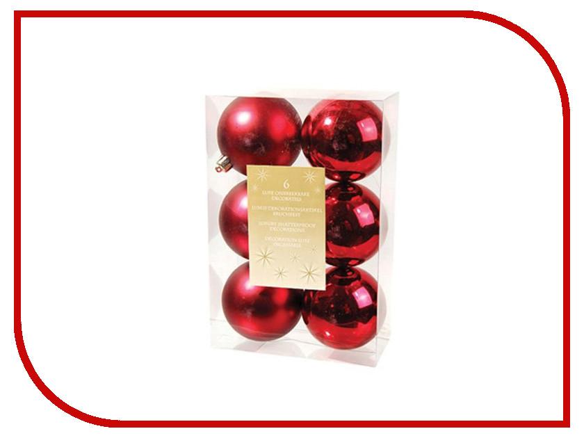 Украшение Kaemingk Набор шаров 6шт Bordo 022053m набор шаров волны фиолетовый пластик 6шт 6см
