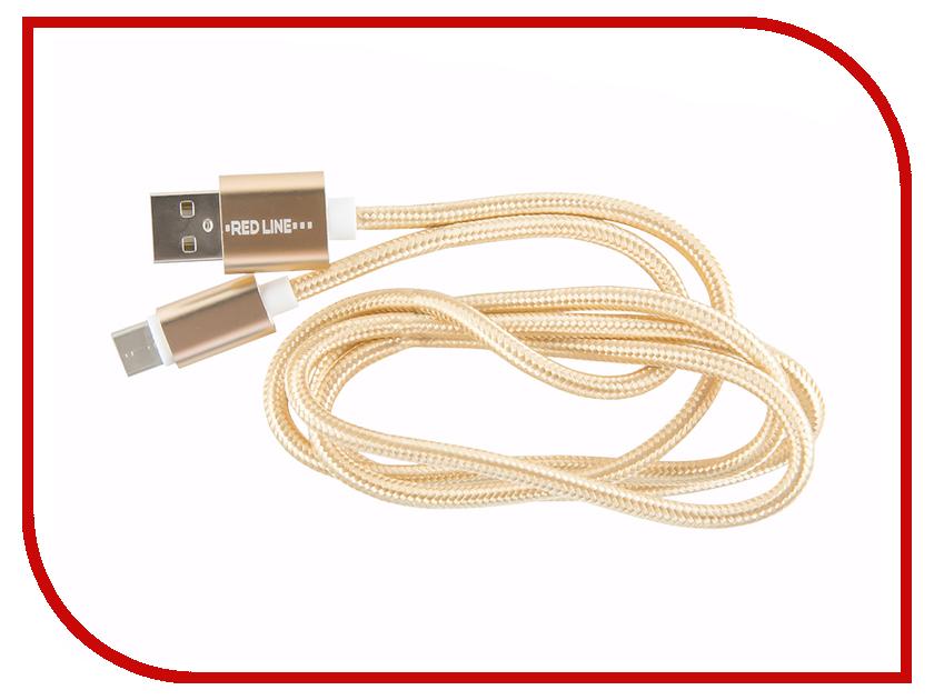 Аксессуар Red Line Micro USB - Type-C Gold аксессуар aldom micro usb lightning 511admns5013 gold