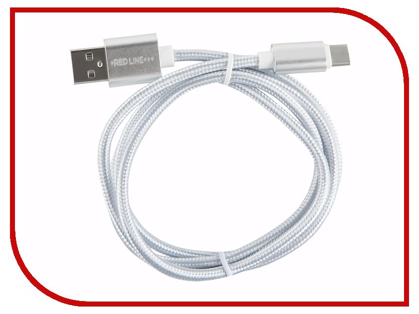 Аксессуар Red Line Micro USB - Type-C Silver аксессуар red line smart high speed usb type c white