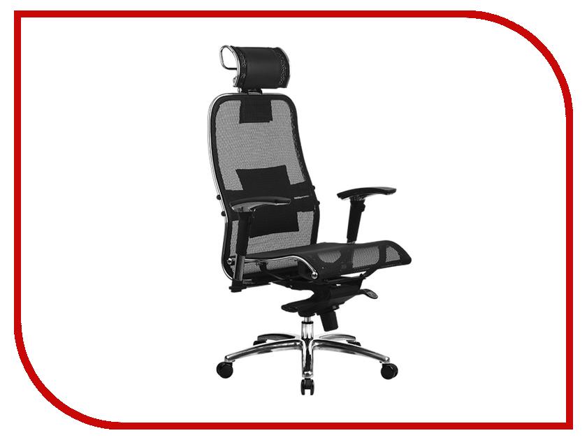 Компьютерное кресло Метта Samurai S-3.02 Black с 3D подголовником