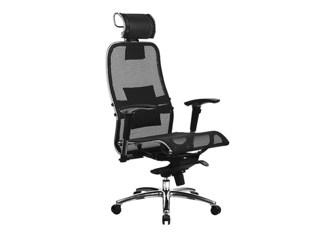 Компьютерное кресло Метта Samurai S-3.03 Black с 3D подголовником