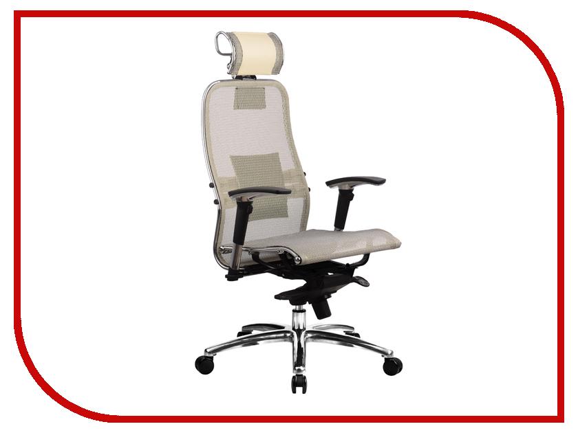 Компьютерное кресло Метта Samurai S-3.02 Beige с 3D подголовником