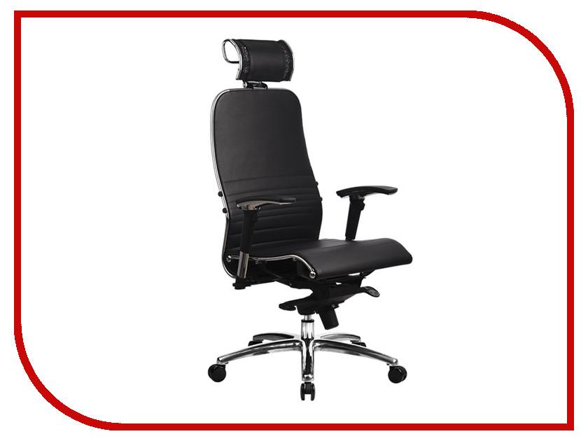 компьютерное кресло метта samurai s 1 02 grey Компьютерное кресло Метта Samurai K-3.02 Black с 3D подголовником