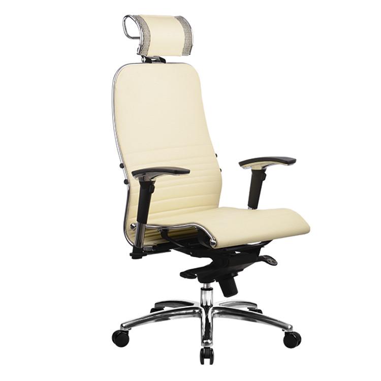 Компьютерное кресло Метта Samurai K-3.02 с 3D подголовником Beige