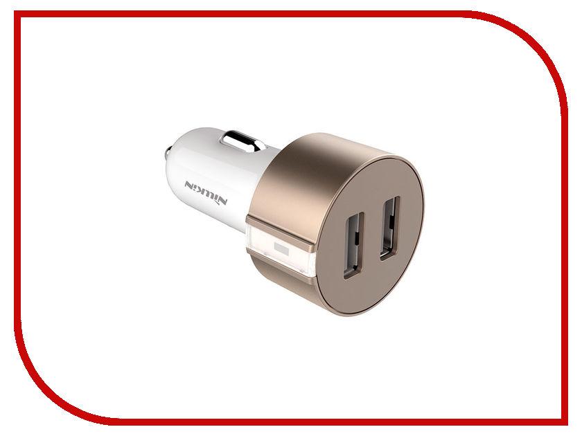 Зарядное устройство Nillkin Vigor Car Charger V-CC 2xUSB 5V/3.4A Gold зарядное устройство dotfes b03s 2xusb 4 8a lightning gold 03179
