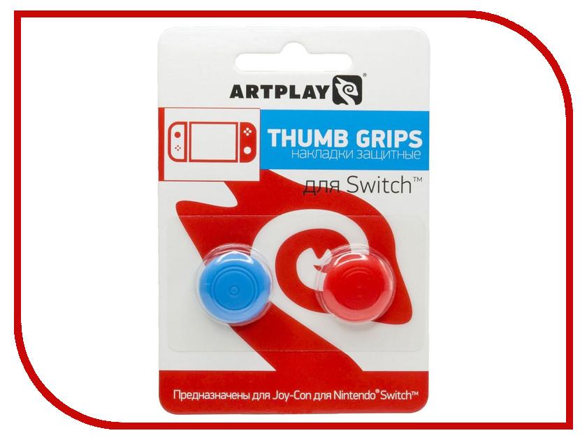 Накладка Artplays Thumb Grips Red-Blue для Nintendo Switch ACSWT18 игровая консоль nintendo switch red super mario odyssey