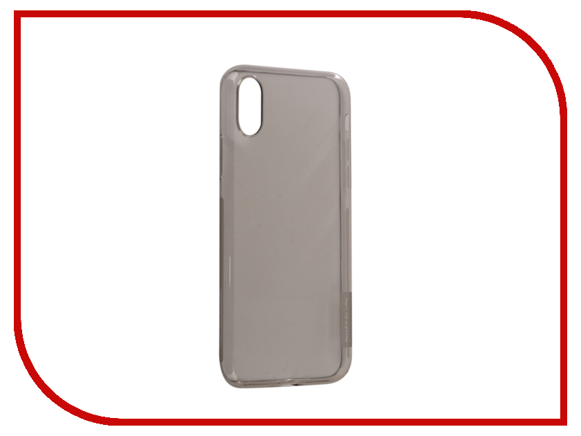 Аксессуар Чехол Nillkin Nature TPU для iPhone X Grey IPhX TPU аксессуар fototo браслет макрообъективдля iphone