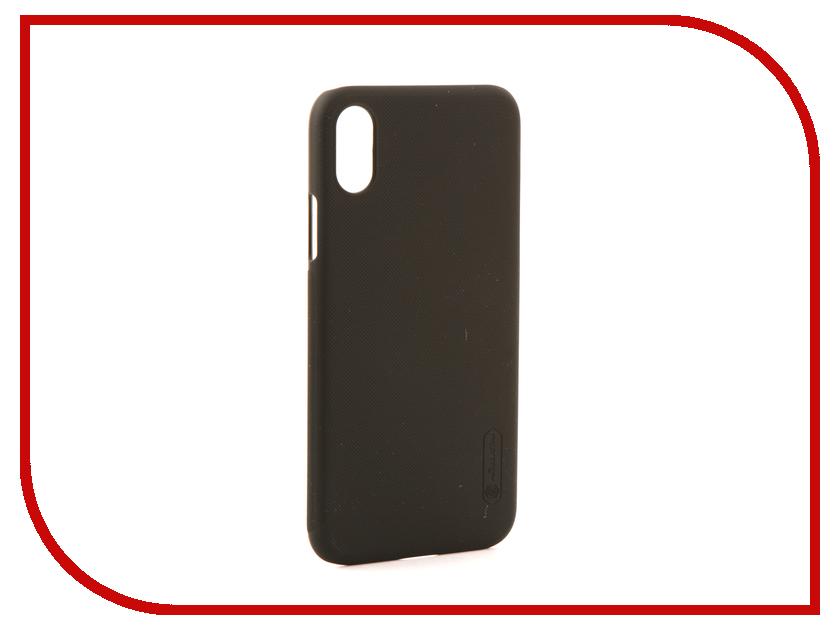 Аксессуар Чехол Nillkin Super Frosted для iPhone X Black IPhX SF iluv dotstyle чехол для iphone x black
