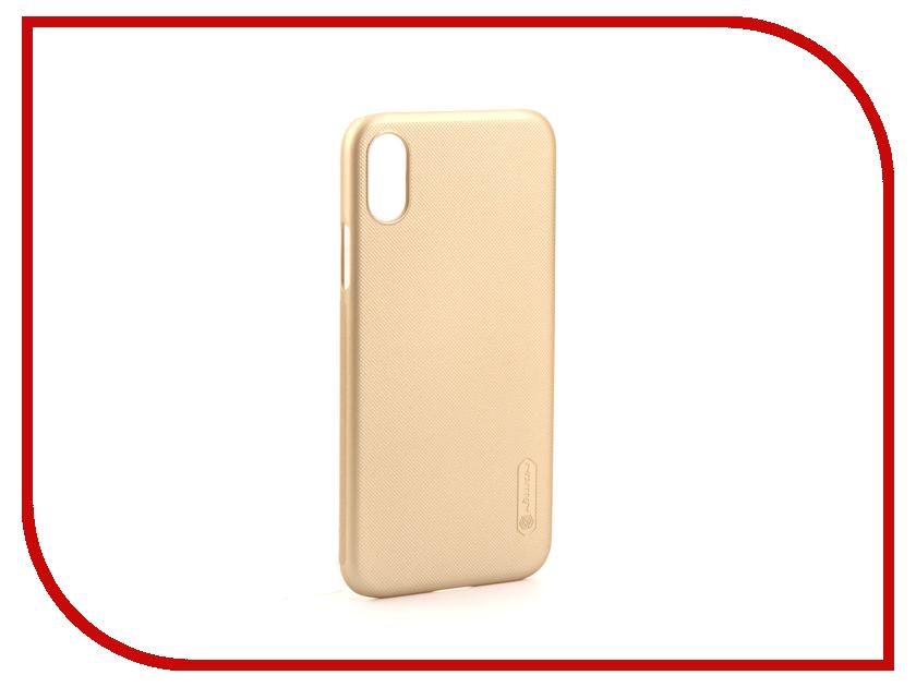 Аксессуар Чехол Nillkin Super Frosted для iPhone X Gold IPhX SF аксессуар fototo браслет макрообъективдля iphone