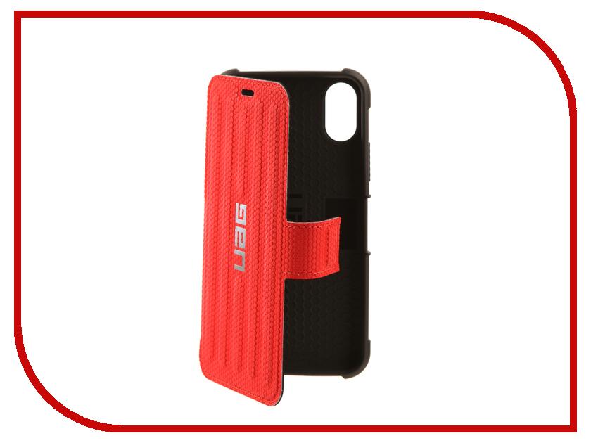 Аксессуар Чехол UAG Metropolis Case для APPLE iPhone X Red аксессуар чехол apple iphone se leather case red mr622zm a