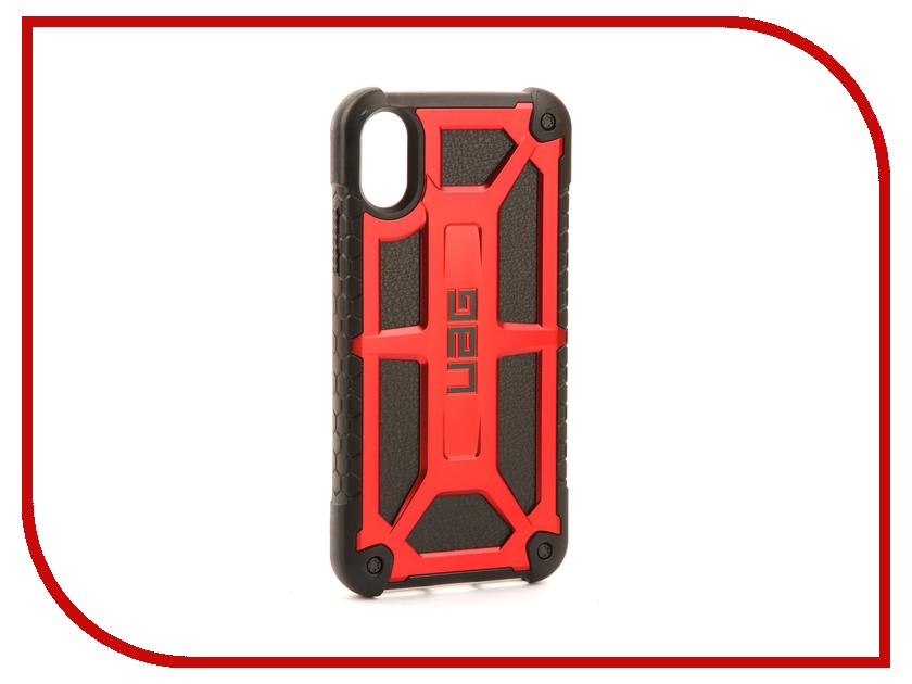 Аксессуар Чехол UAG Monarch Case для APPLE iPhone X Crimson IPHX-M-CR аксессуар чехол uag plasma cobalt для apple iphone 7 blue iph7 6s l cb