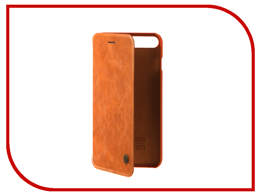 Аксессуар Чехол Nillkin Qin Leather для iPhone 7 Plus Brown Q-LC AP-Iphone7 PLUS чехол книжка nillkin qin leather для apple iphone 7 plus