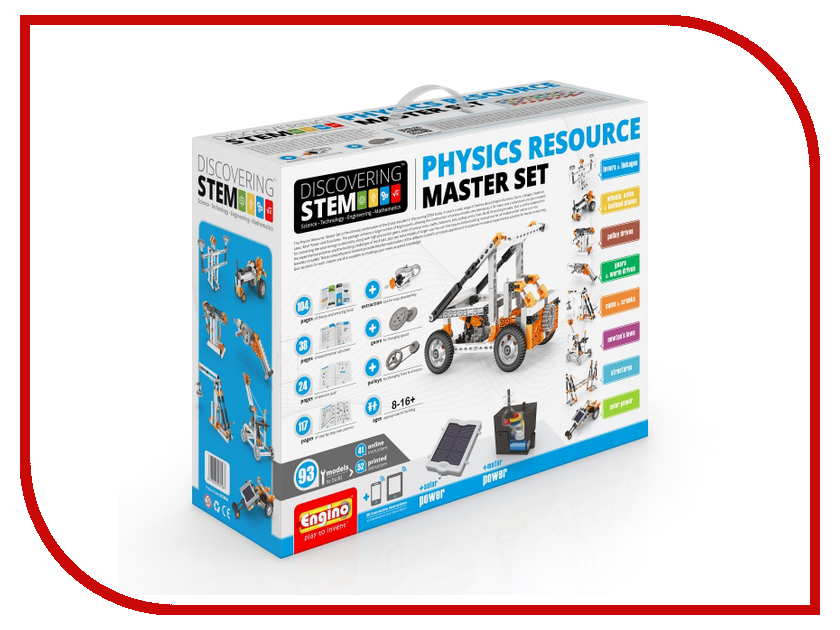 Конструктор Engino Discovering Stem STEM50 Physics Resource Master Set конструктор engino stem03 discovering stem механика блоки