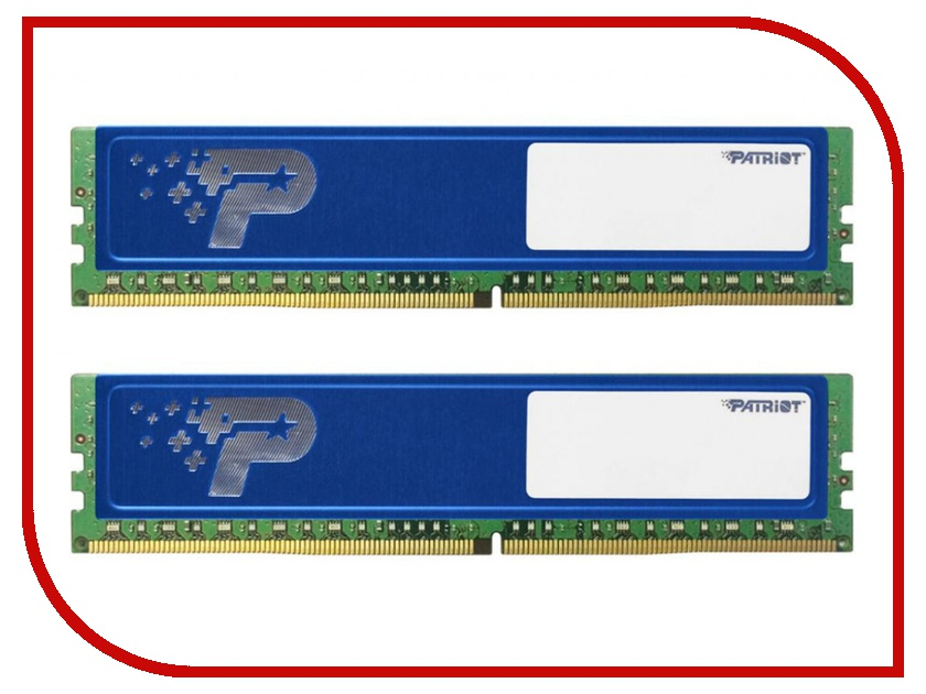 Модуль памяти Patriot Memory DDR4 DIMM 2400MHz PC4-19200 CL17 - 8Gb KIT (2x4Gb) PSD48G2400KH модуль памяти patriot memory ddr4 so dimm 2400mhz pc4 19200 cl17 4gb psd44g240041s