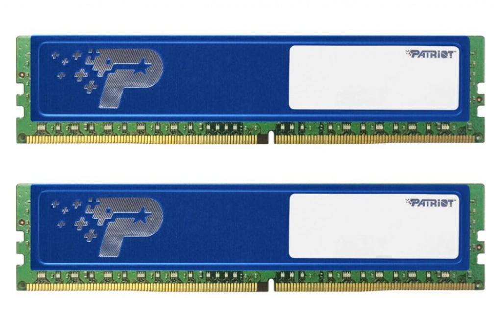 Модуль памяти Patriot Memory DDR4 DIMM 2400MHz PC4-19200 CL17 - 8Gb KIT (2x4Gb) PSD48G2400KH цена