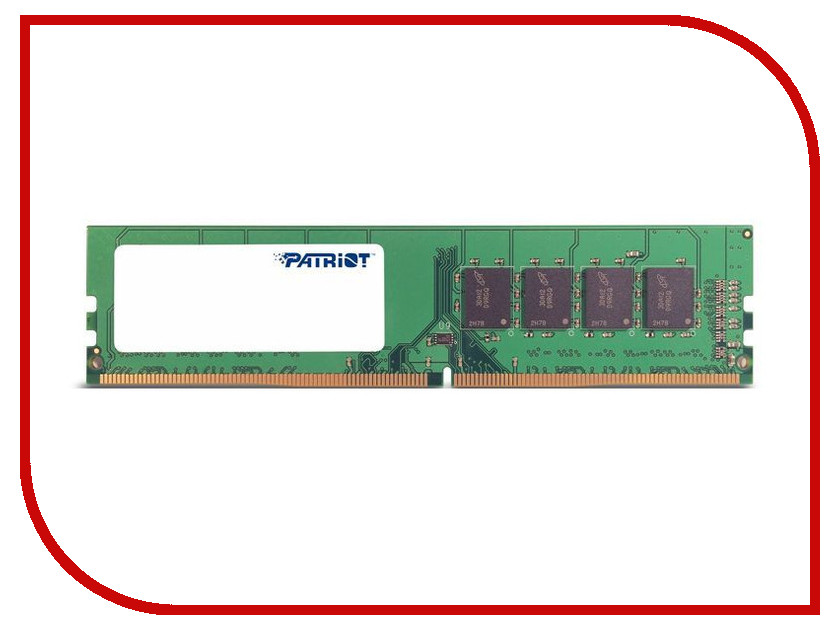 Модуль памяти Patriot Memory DDR4 DIMM 2400MHz PC4-19200 CL16 - 4Gb PSD44G240041 модуль памяти patriot memory ddr4 so dimm 2400mhz pc4 19200 cl17 4gb psd44g240041s