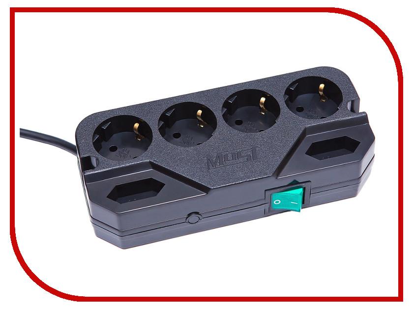 Сетевой фильтр Most CRG 6 Sockets 5m Black