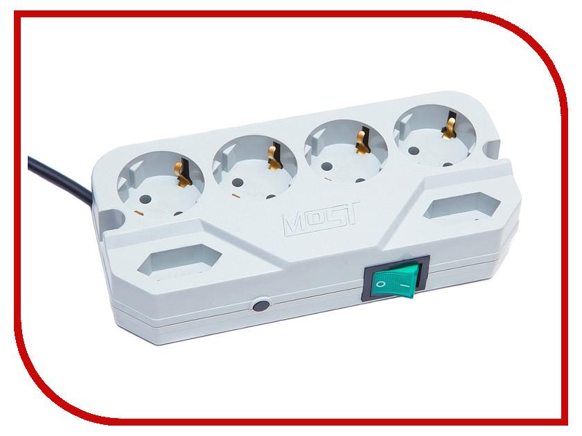Сетевой фильтр Most CRG 6 Sockets 2m White