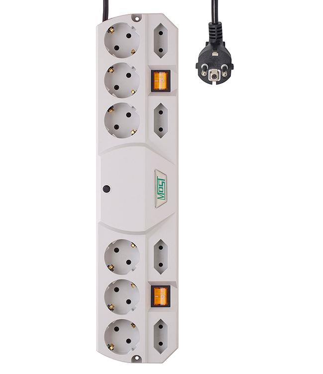 Сетевой фильтр Most TRG 10 Sockets 5m White сетевой фильтр daesung mc2345 4 sockets 5m