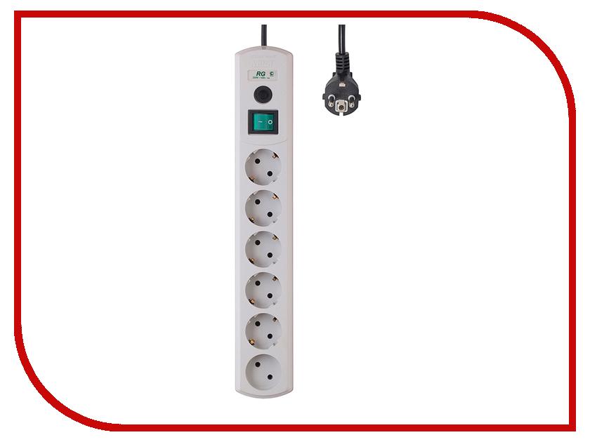 Сетевой фильтр Most RG 6 Sockets 10m White