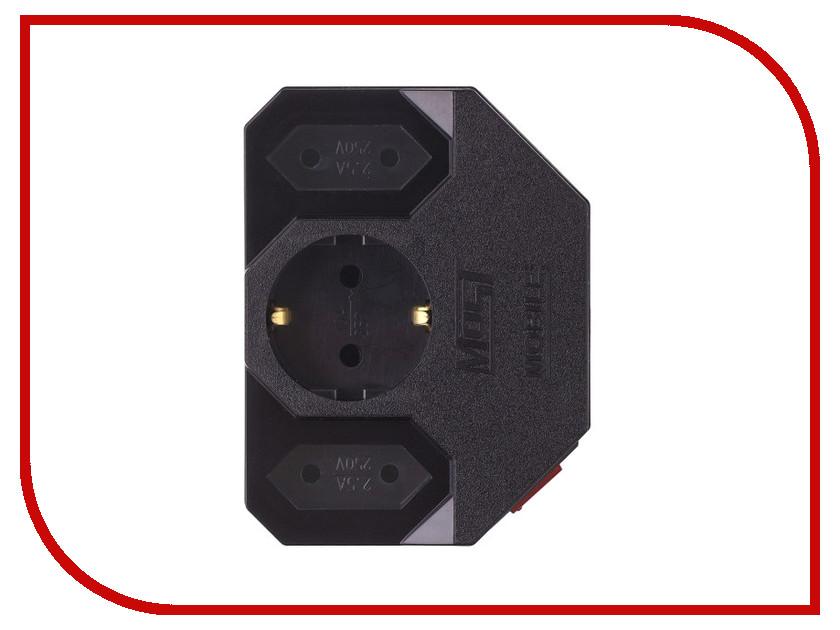 Сетевые фильтры и удлинители MRG  Сетевой фильтр Most MRG 3 Sockets Black