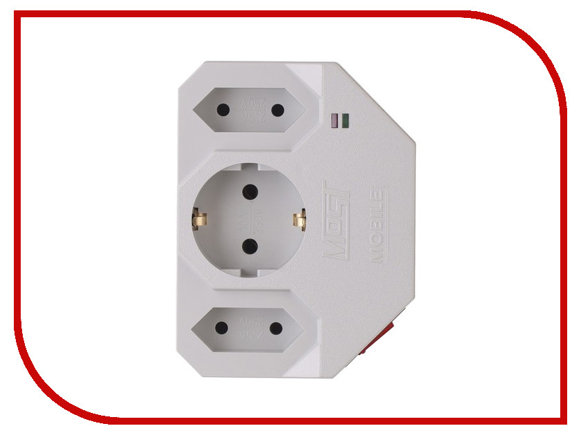 Сетевой фильтр Most MHV 3 Sockets White эра up 1 2x1 0 20m