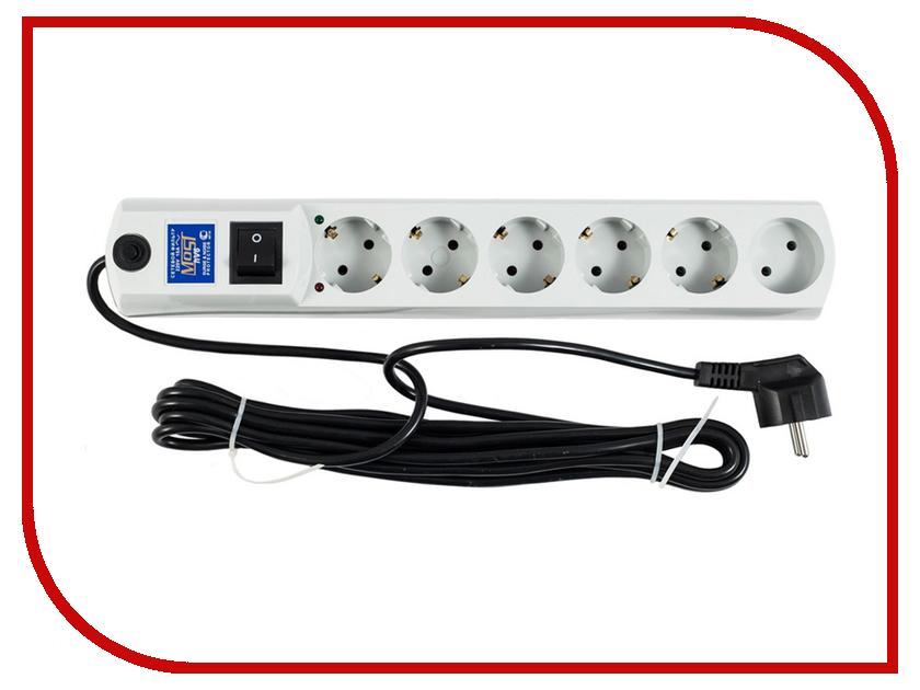 Сетевой фильтр Most HV6 6 Sockets 5m White
