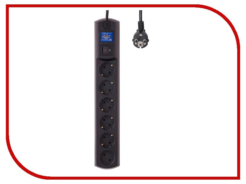Сетевой фильтр Most HV6 6 Sockets 2m Black