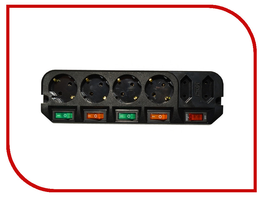 Сетевой фильтр Most ARG 6 Sockets 3m Black сетевой фильтр most arg 6 sockets 5m white
