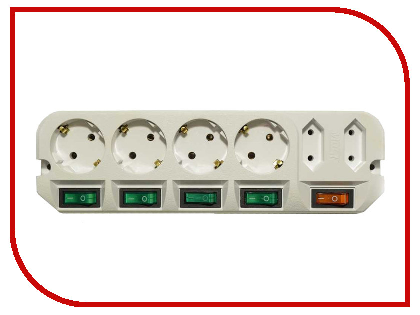 Удлинитель Most A16 6 Sockets 1.6m White удлинитель rexant optima 3 sockets 7m white 11 2267