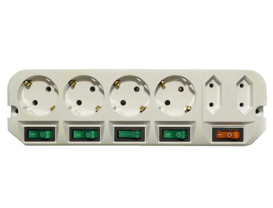 Удлинитель Most A16 6 Sockets 1.6m White
