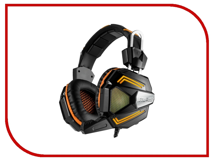 Jet.A GHP-300 Pro с LED-подсветкой Surround Sound 7.1 Black-Orange ghp 206