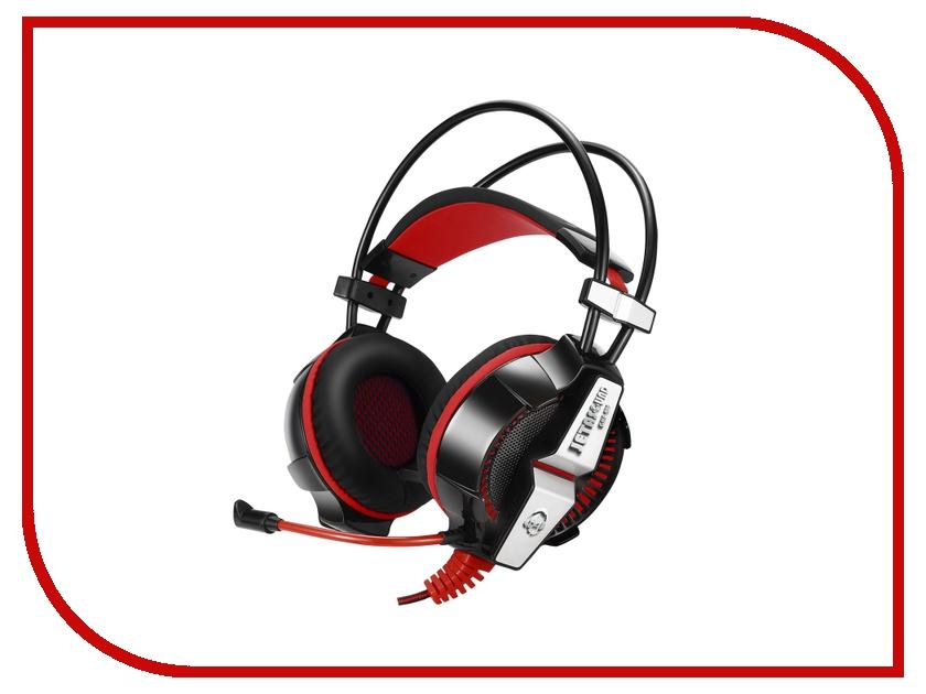 Jet.A GHP-400 Pro с LED-подсветкой и Surround Sound 7.1 Black-Red ghp 206