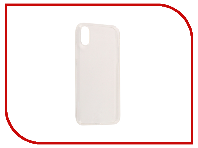 Аксессуар Чехол Baseus Simple Clean TPU для APPLE iPhone X Transparent ARAPIPHX-B02 baseus simple series clear thin tpu cover for apple watch 38mm transparent