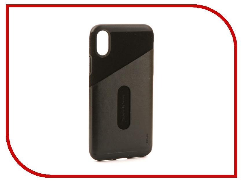 Аксессуар Чехол Baseus Card Pocket для APPLE iPhone X Black WIAPIPHX-KA01 iluv dotstyle чехол для iphone x black