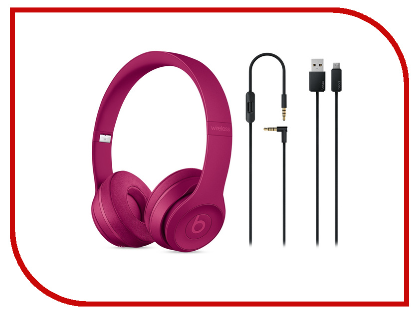 Beats Solo3 Wireless Brick Red MPXK2ZE/A wireless